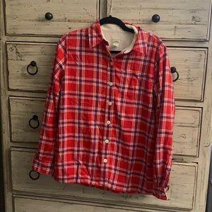 L.L. bean flannel fleece long sleeve shirt